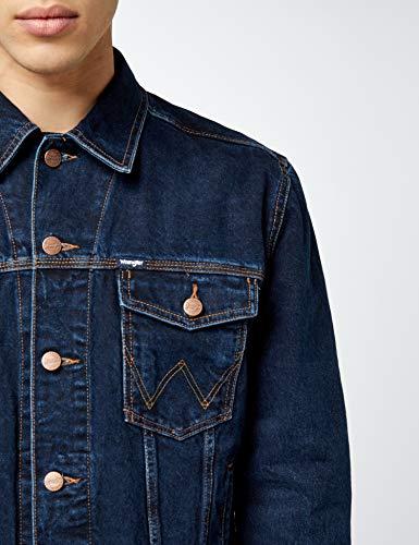 Wrangler Herren Jeansjacke Auth Western Jacket Blau (Blue Black) - 5