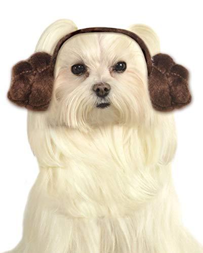Horror-Shop Perros peinado princesa Leia M/L