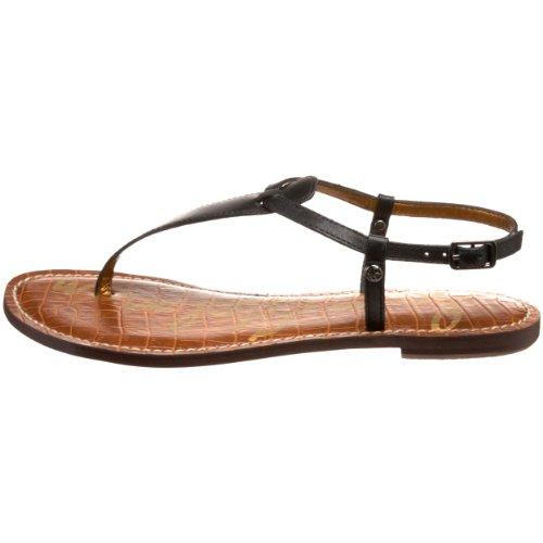 sandali infrandito donna SAM EDELMAN pelle colore nero Nero (Black Atanado Leather)