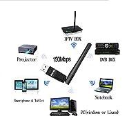 Usb wifi Dongle receiver, 2.4ghz/150mbps Wireless Network USB Wifi Adapter for Laptop pc desktop,wifi antenna for Windows 10/8/7/Vista/XP/2000, Mac Os X 10.5-10.13