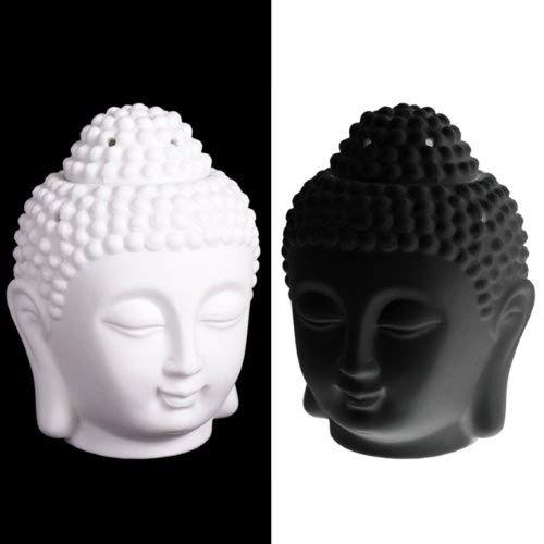 Thai Buddha Head Oil Burner - White