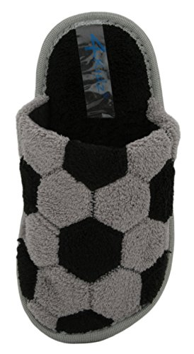 slipper Terry Grau Mule Memory foam 4kidz jungen Back Open F0Owqp