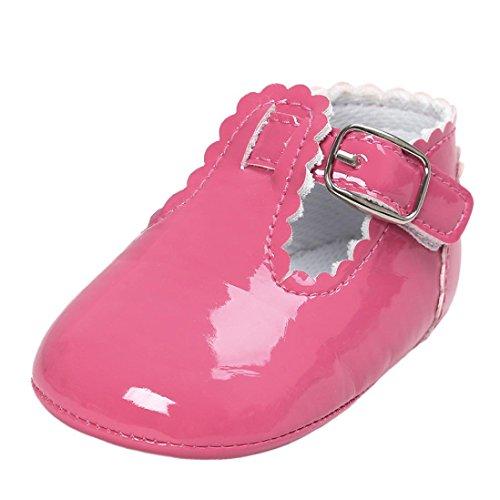 FEITONG Baby Leder Prinzessin Soft Sohle Schuhe Freizeitschuhe Heißes Rosa