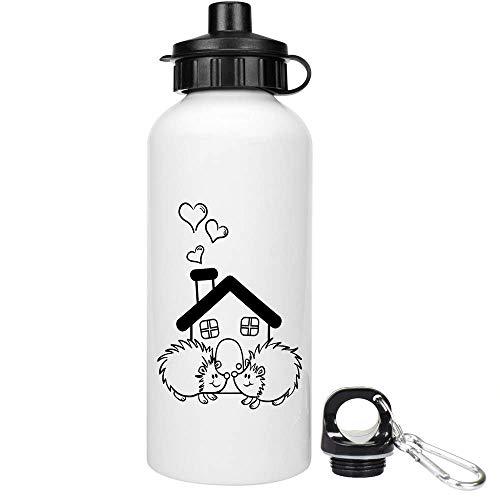 Azeeda 600ml \'Igel-Haus\' Trinkflasche / Wasser-Flasche (WT00022349)