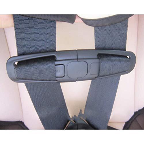 NUOLUX Auto Sicherheit Sitz Strap Lock Harness Tite Clip sicher Gürtelschnalle für Baby (schwarz)