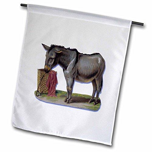 3drose FL _ 180183_ 2,5cm niedliche Little grau Esel mit Korb