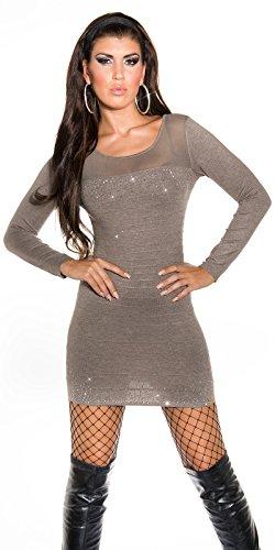 Sexy KouCla Strick-Minikleid mit Nieten Koucla by In-Stylefashion SKU 0000ISF824801 Dunkelbraun