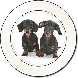 Zwei niedliche Dackel Hunde AutovignetteGenehmigungsinhaber Geschenk