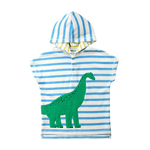 Carolilly Baby Hooded Bath Towel Poncho Cotton Bathrobe Super Soft Swim Cover up for Toddlers(Small Size!!)