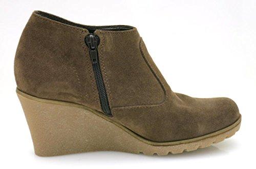 Kiwi De L'Esprit Cheville Chemin d'accès Bottine pour femme Cuir sauvage Bottine en cuir G10366 marron Marron