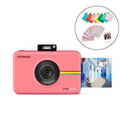 Polaroid Snap Touch 2.0 - Cámara digital portátil instantánea de 13 Mp, Bluetooth, pantalla táctil LCD, tecnología Zink sin tinta y nueva aplicación, copias adhesivas de 5 x 7.6 cm, rosa