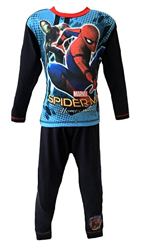 Boys Kids Novelty Official Marvel Spiderman Homecoming Movie Pyjamas Blue PJS Age 4-10
