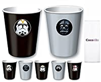 Cocco & Bo Collezione Star Wars Inspired Birthday Party decorations; Star Wars Villains Party cups/Treat tubs - holds 226 ml and Made from paper; WE Aim To Dispatch Orders promptly - Let Us know if you need your order in a hurry; cocco &a...