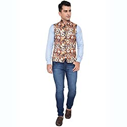 ShopyBucket New Designer Art Silk Nehru Jacket Trendy Timeless And Versatile Nehru Jacket (Size- M-40)(Pack Of 1)