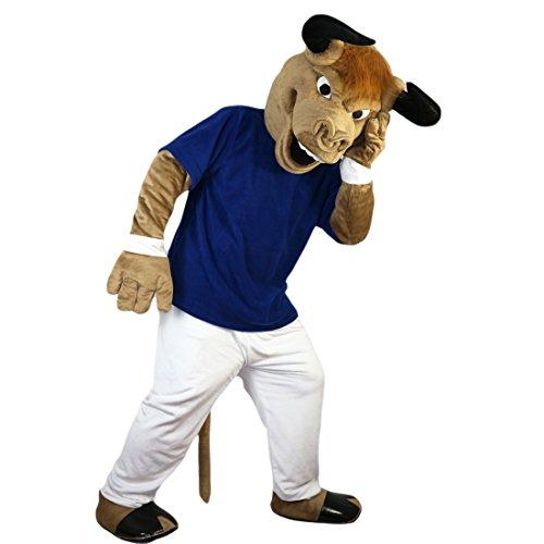Langteng braun Sport stark Muscle Kuh Bull Cartoon Maskottchen Kostüm Echt Bild 15-20Tage Marke