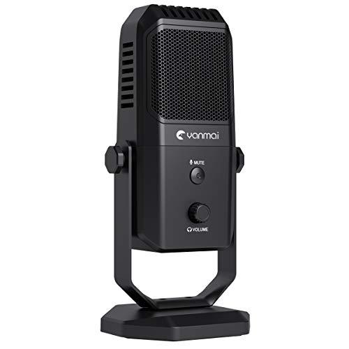 Kungber USB Mikrofon PC Professionelles Kondensatormikrofon, 2020 Upgrade USB Plug & Play Microphones für PC/Mac/Desktop (mit mehreren Aufnahmemustern und Überwachung)