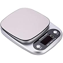 ZHANGYUGE La báscula Digital precisa Hogar Cocina cocinar Alimentos Dieta Gramos Lectronic Equilibrio banqueta Básculas,