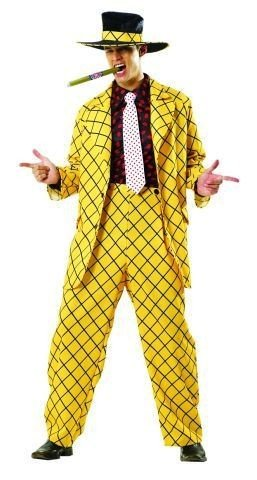 Foxxeo 10228 | Pimp Daddy Zuhälter Kostüm gelb, Größe:XL