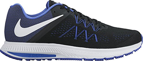 Nike Men's Zoom Winflo 3 Black-Pa Blu Running Shoes