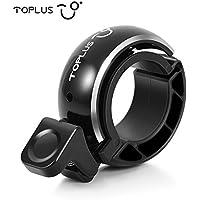 TOPLUS Fahrradklingel Fahrradglocke Radfahren, O Design Fahrradglocke, Unsichtbar Bike Fahrrad, Fahrradhupe Klingel Glocke Hupe für Fahrrad,schwarz, für Lenker 22.2-23mm