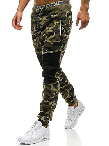 BOLF Pantaloni Sportivi - Tipo Jogger - Motivo Mimetico - Stile Street - da Uomo P&L Fashion QN274 Verdi XXL [6F6]