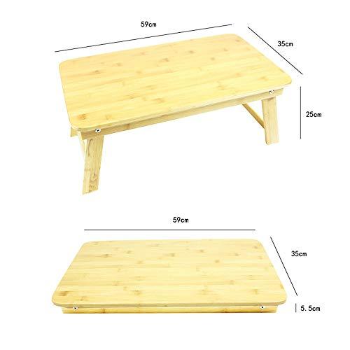 Portable Outdoor Campingzubehör Tragbarer faltender Picknicktisch-natürlicher Bambus mit kampierendem Tisch des Speicher-Taschen-Garten-im Freien (Farbe : Wood, Größe : 59 * 35 * 25) -