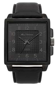 Ben Sherman Men's Quartz Watch with Black Dial Analogue Display and Black PU Strap BS029