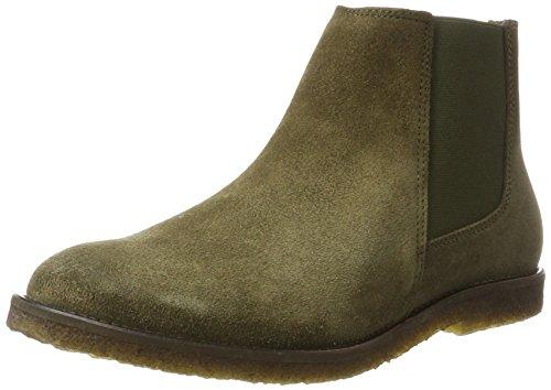 Ca'Shott Damen A18325 Chelsea Boots, Grün (Olive Suede), 39 EU (Boots Grüne Ankle)