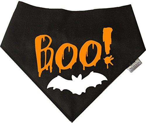 Spoilt Rotten Pets Hund Bandana–(S1) Halloween 'Boo Bat' Vier Größen erhältlich für Tiny Chihuahuas zu Extra Große Neufundland (Tiny ()