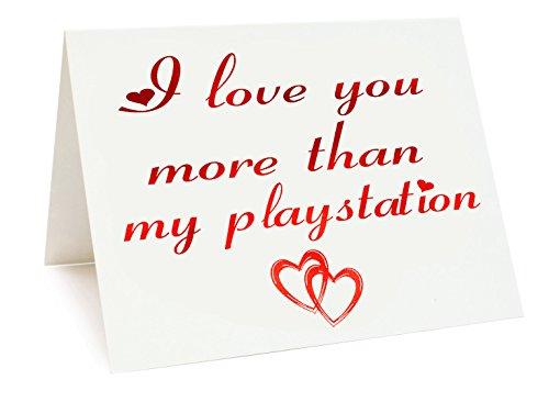 A5Vereitelt Jahrestag/Valentinstag/Love/Geburtstagskarte-Playstation Mottoparty (Ps3-ps4-geschenk-karte)