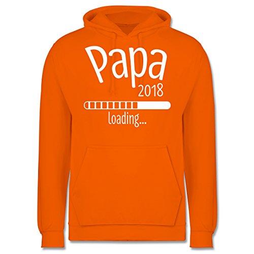 Vatertag - Papa 2018 loading - Männer Premium Kapuzenpullover / Hoodie Orange