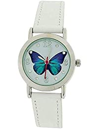 504db6f1c9726 Jo For Girls Analogue White Dial Butterfly   Leather Strap Fashion Watch  JW020