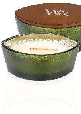 Woodwick Fraser-Tanne Dekorative Duftkerze im Glasgefäß 453.6 g, Glas, Weiß/durchsichtig, 19.3 x 11.6 x 8.8 cm (Frasier Tanne)