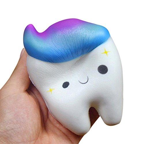 VENMO Squishy Teeth Cake Scented Squishy Langsam steigende Squeeze Spielzeug Jumbo-Sammlung Spielzeug Anti Stress zum Kneten Squeeze Ball Kawaii Form gegen Stress im Alltag für Erwachser Kinder (Multicolor)