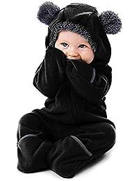 Cinnamou Jumpsuit Bebé, Unisexo Bebé Recién Nacido Franela Mameluco Invierno Ropa Una Pieza Pijamas Monos Caricatura Trajes