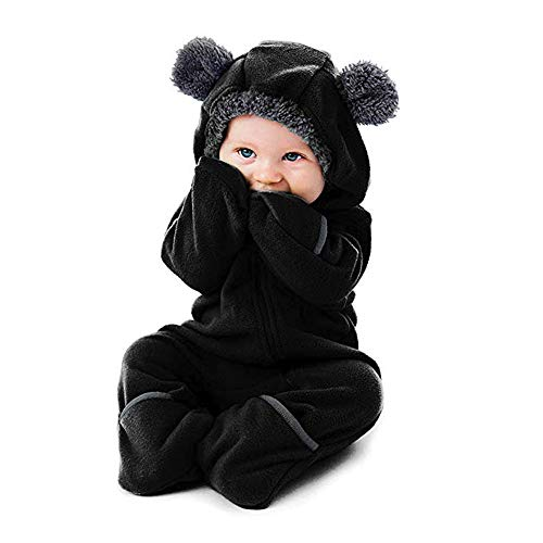SUCES Baby Süß Hoodie Strampler Mädchen Reißverschluss Overall Jungen Kleidung Winter Weich Mantel Langarm Kapuzen Klassisch Outfits...