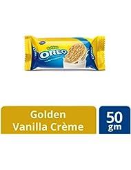 Cadbury Golden Oreo Biscuits, Vanilla Crème, 50g