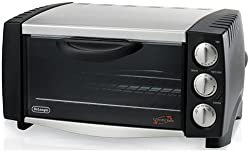 DeLonghi EO1251 6-Slice 1/2-Cubic-Foot Convection Oven, Black and Stainless Steel