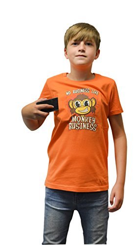 Digital Dudz DDKTMBX - Moving Eyes Monkey Business Kinder T-Shirt, Größe XL, 12-13 Jahre, (Business Monkey Kostüm)