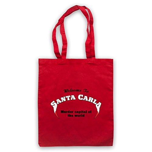 Inspiriert durch Lost Boys Santa Carla Murder Capital Of The World Inoffiziell Umhangetaschen Rot