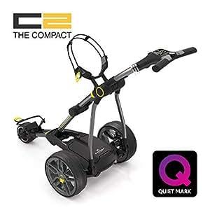 Chariot de golf électrique Powakaddy C2compact avec batterie au lithium 18/27Couleur Gris métallisé foncé