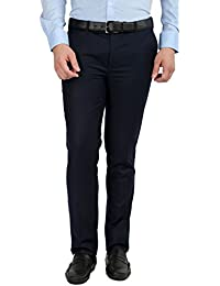Inspire Premium Blue Slim Fit Trousers For Men (30)