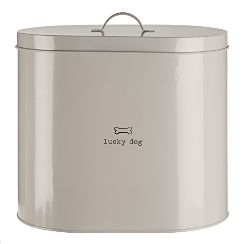 Premier Housewares Adore Pets Lucky Dog Food Storage Bin with Spoon, 12 L - Natural