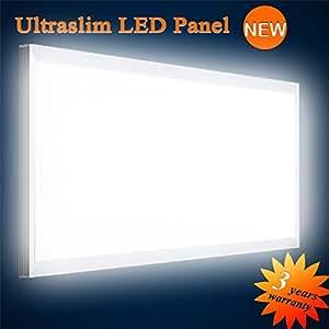 mextronic led panel deckenpanel wandpanel ultraslim led panel wei 6000lm 75w 120x60cm dimmbar. Black Bedroom Furniture Sets. Home Design Ideas