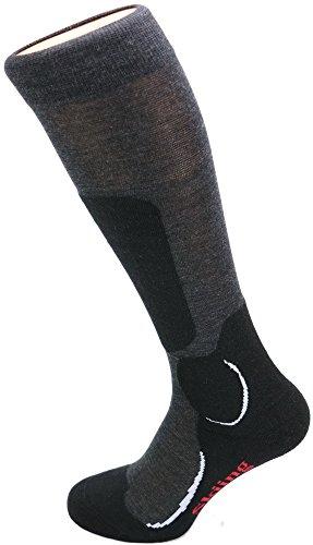 Miribung Skisocken Komfort Plus, anthrazit 39-41 (Seide Strumpfwaren)