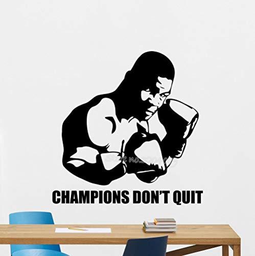wukongsun Boxer Wandtattoo Champion Nicht aufhören Gym Vinyl Wandaufkleber Sport Boxen Trainingsraum Art Deco Wandbild 63 cm x 63 cm -