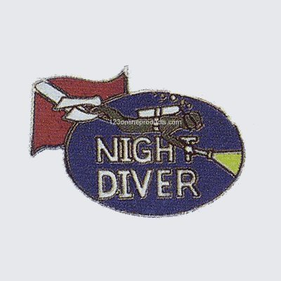 Trident Night Diver Collectable Scuba Diving Pin by Trident