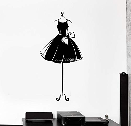 JJHR Wandtattoos Wandaufkleber Kleid Kurze Schaufensterpuppe Kleid Wandaufkleber Dekor Ballerina Mädchen Zimmer Wandtattoos Removable Poster 42 * 84 cm (Ball Kleid Kleider Militär)