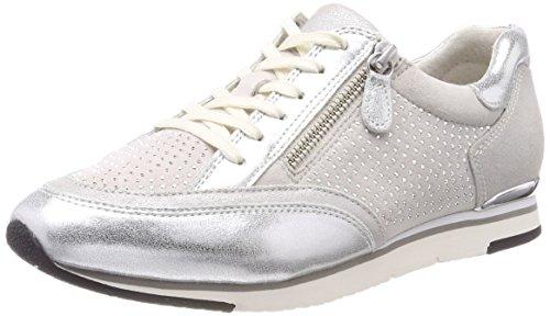 Gabor Shoes Damen Casual Derbys, Weiß (Ice/Argento/Marmor), 38.5 EU
