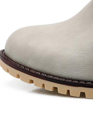 ShangYi Mode Frauen Schuhe Damen Stiefel Frühjahr / Herbst / Winter Fashion Stiefel / Boots Combat and Outdoor / Kunstleder Ferse BowknotBlack Schwarz